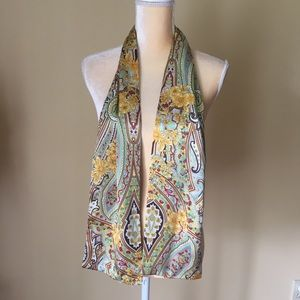 Accessories - Paisley print silky scarf GUC